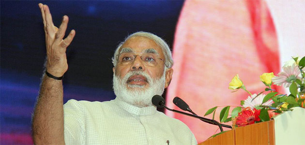 BJP PM candidate Narendra Modi was addressing an election rally in Delhi on Saturday.
